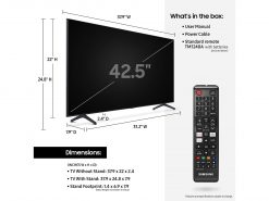 تلویزیون سامسونگ ۴۳″ Class TU7000 Crystal UHD 4K Smart TV